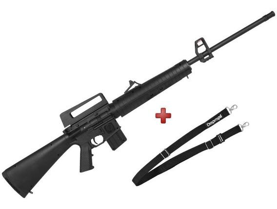 Carabina Espingarda Pressão Chumbinho Rifle M16 Rossi 5.5mm