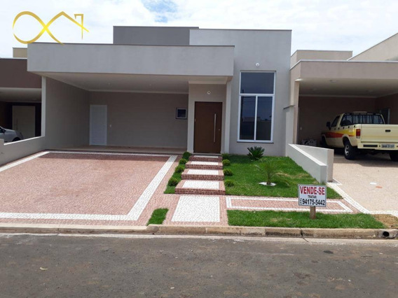 Casa Com 3 Dormitórios À Venda, 187 M² Por R$ 800.000,00 - Condomínio Terras Do Fontanário - Paulínia/sp - Ca1818