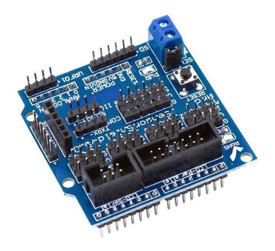 Placa Expansão V5.0 Shield Sensor Uno V5 Arduino Servo Lcd