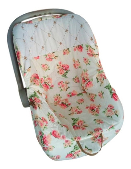 Kit C/ 2 Capa Para Bebê Conforto Charme 100% Algodão Bordado