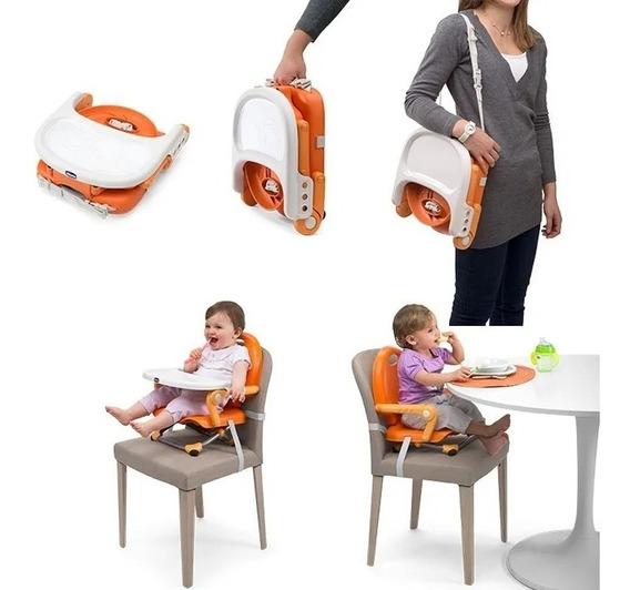 Silla Comer Bebe Chicco Pocket Booster Portasilla Plegable