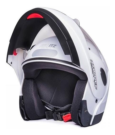 Capacete Taurus Zarref Branco Escamoteavel Robocop 56 58 60