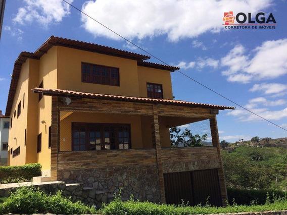Casa De Condomínio Com 6 Dormitórios, 270 M² - Gravatá/pe - Vl0130