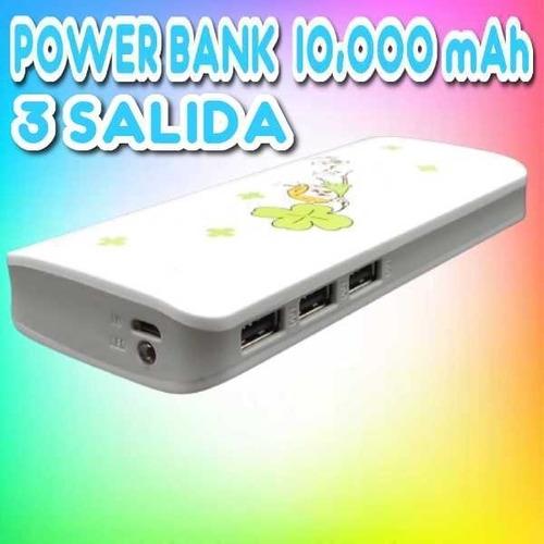 Power Bank De 13800mah  Tres Salida Usb