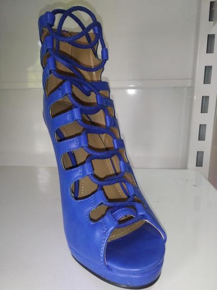 Zapatos De Fiesta Azul Con Cordón!!! Envío Gratis!!