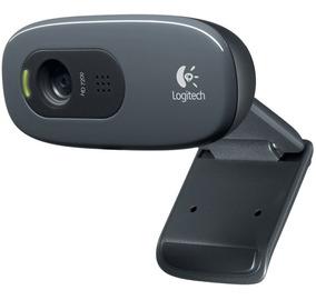 Webcam Logitech C270 3 Mp Hd Chamadas E Gravações Em Vídeo