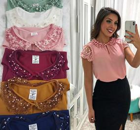 Blusa Feminina Evangélica Com Detalhes Em Rosa