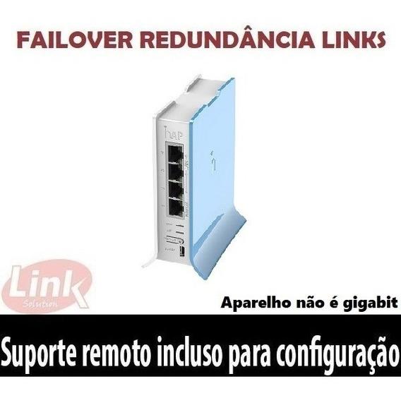 Roteador Wifi Mikrotik Rb941 (hap Lite) Failover Redundancia