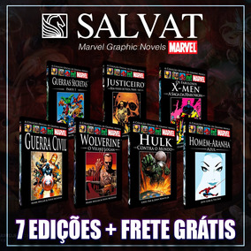 Kit 8 Hqs De Luxo Marvel Salvat Capa Preta - Frete Grátis