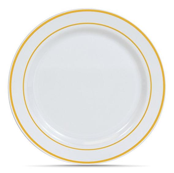 50 (10,25 Pulgadas) Con El Oro Blanco Anillo De Plástico Des