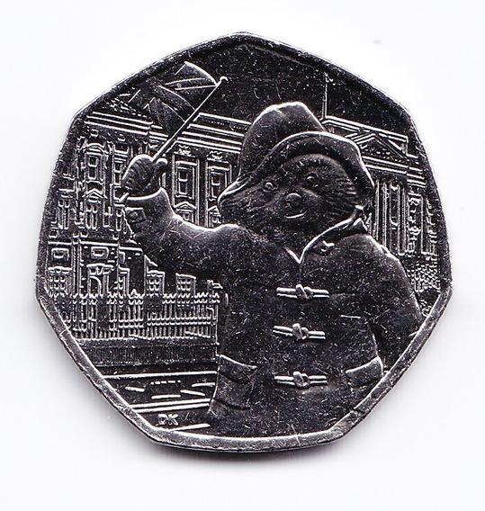 Inglaterra Moneda 50 Pence 2018 Paddington Unc Sin Circular