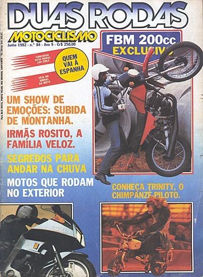 2r.084 Jun82- Honda Cg125 Álcool Yama Rx125 Lambretta Amazon
