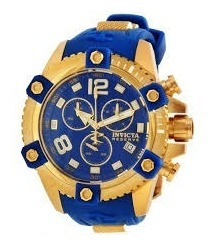 Invicta Reserve Arsenal Swiss Chronograph Blue Dial Blue Rub