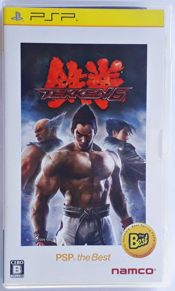 Jogo Tekken 6 Playstation Portable Psp Mídia Física Japonês