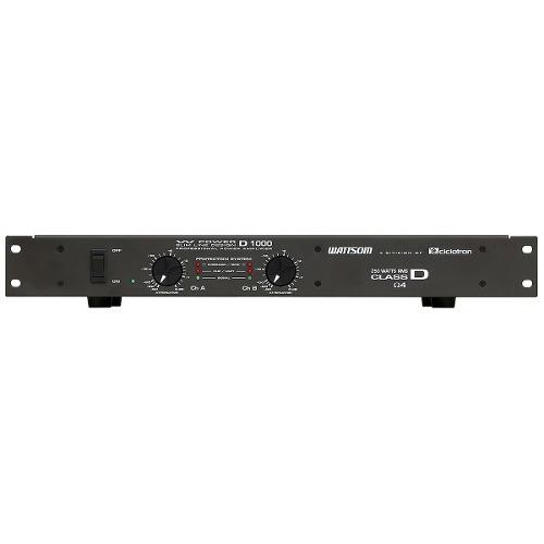 Amplificador 2 Ch 250w W Power D1000 Ciclotron Imperdível