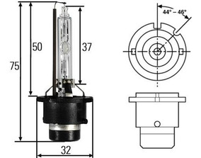 Lampada Xenon D4s 4300k 12/24v 35w Original Hella