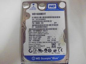 Hd 160gb Wd Scorpio Blue Wd1600bevt *defeito