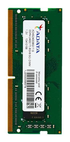 Memoria Ram 8gb Adata Ddr4 2400 (pc4-19200) Sodimm Modulo Single Pack (ad4s240038g17-s)
