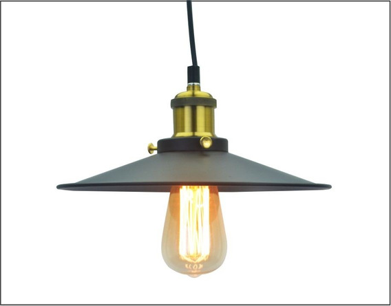 Lustre Pendente Industrial Retro Hall Metal Pelegrin Pel-032