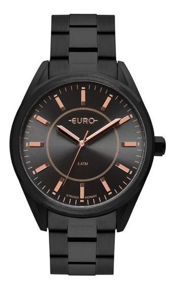Relógio Feminino Euro Eu2035ypy/4p Preto