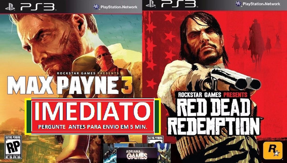 Red Dead Redemption + Max Payne 3 +dlc Ps3 Psn Midia Digital