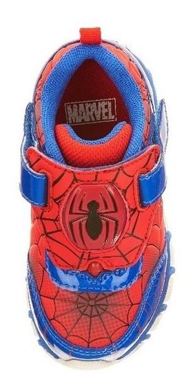 Zapatos Deportivos Spiderman Luces Niños
