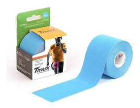 Kinésio Tmax Azul - Bandagem Elástica Terapêutica 5 Cm X 5m