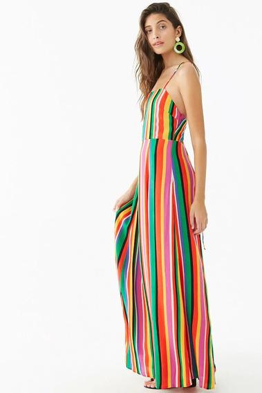 Vestido Largo Informal Forever 21 Mujer Mercado Importado