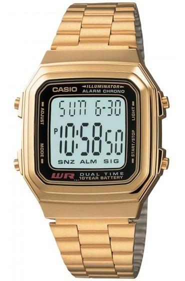 Relógio Casio A-178wga-1adf Digital Cronógrafo - Refinado