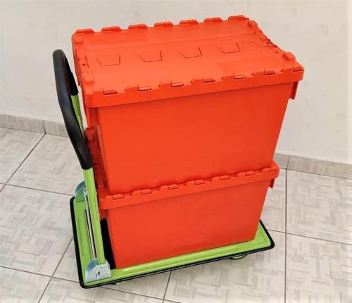 Locação 10 Caixas Eco Friendly Com 1 Carrinho Para Mudanças
