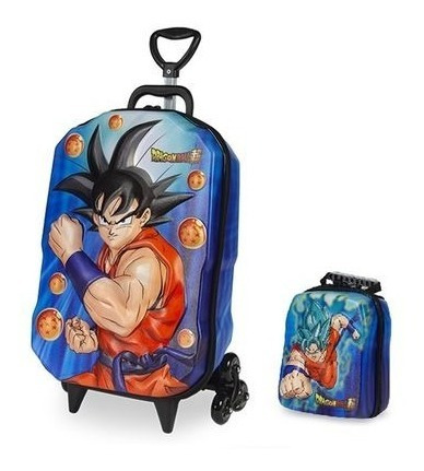 Kit Mochila Dragon Ball Super E Lancheira 3d - Maxtoy