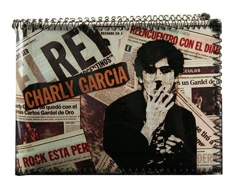 Billetera Charly Garcia Rock Argentino Con Tarjetero