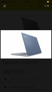 Notebook Lenovo Ideapad 320-17ikb I7-7500u 1tb 8gb 15.6 Plat