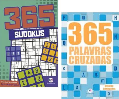 Kit Com 2 Livros 365 Sudokus + 365 Palavras Cruzadas I