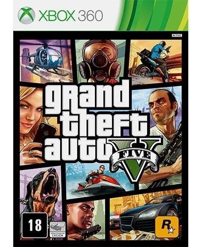 Jogo Gta V - Gta 5 - Xbox 360 - Lacrado Midia Física
