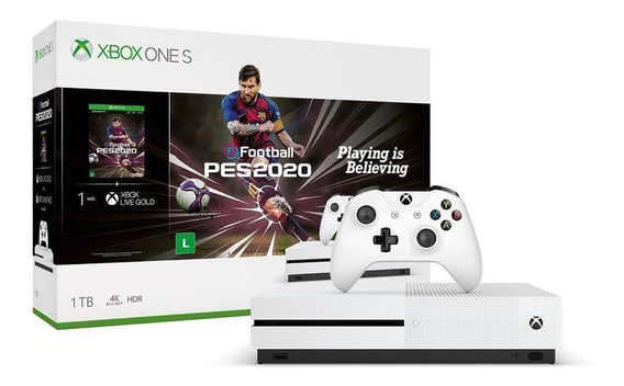Console Xbox One S 1tb Pacote Efootball Pes 2020 Microsoft