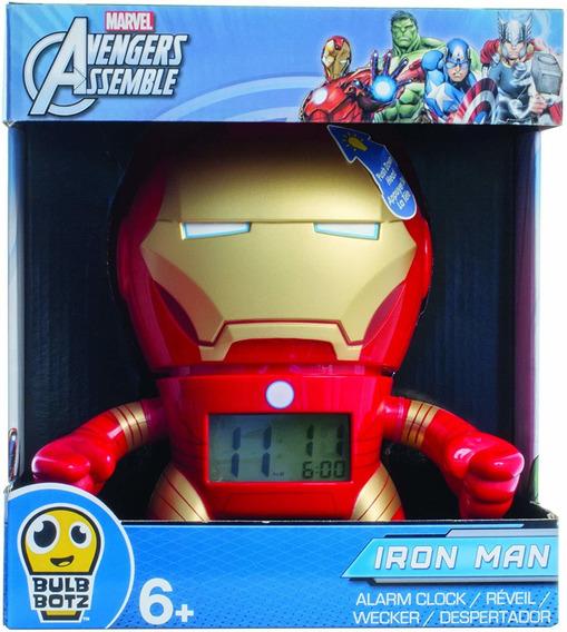 Reloj Despertador Digital Iron Man Bulb Botz Marvel Avengers
