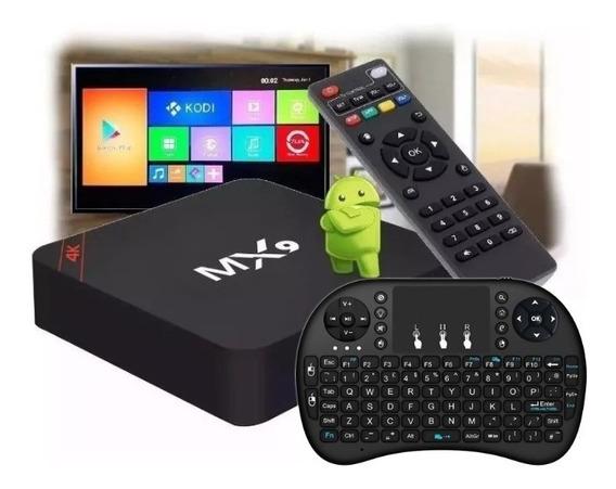 Kit Aparelho Smartv Tv Box 4k Android 8.1 + Mini Teclado