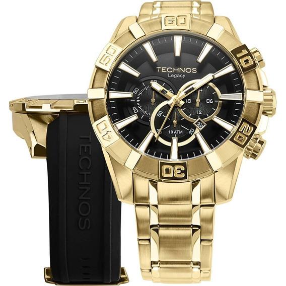 Relógio Technos Masculino Dourado Legacy Os2aajac/4p + Nf