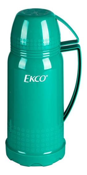 Termo D 1l. Ekco Classic De Ampolla De Vidrio Verde Turquesa