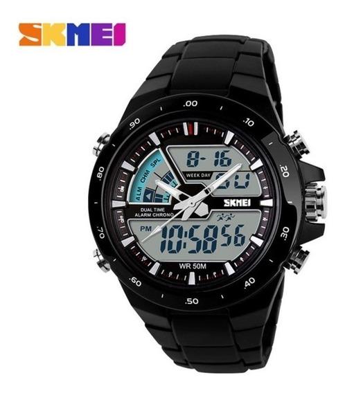Relógio Skmei 1016 Preto Masculino Esportivo Militar 5atm