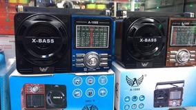 Radio Recarregável Usb/sd.am/fm 1088. Bass Cartão Memória1