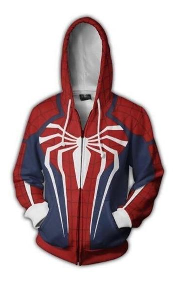 Blusa Jaqueta Homem Aranha Spider Man Cosplay Jogo Game Ps4