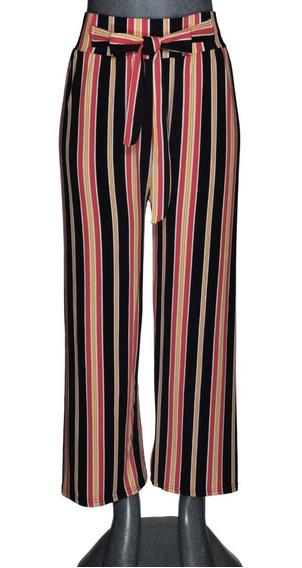 10 Pantalon Con Moño, Resorte, Rayado, Dama, Lote, Mayoreo