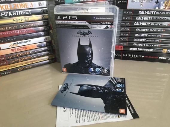 Batman Arkham Origins Ps3 Português Original Semi Novo Dvd