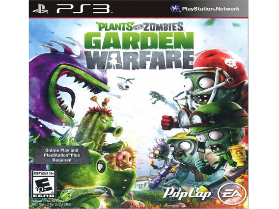 Jogo Ps3 Plants Vs Zombies Garden Warfare Midia Digital Psn