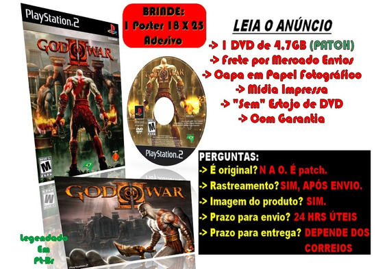 God Of War 2 Para Ps2 + Brinde