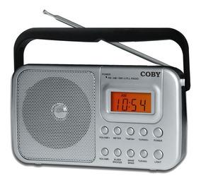 Rádio Portátil Am/fm, 110/220v, Alarme/relógio Coby Cr201