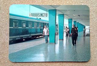 Vieja Postal Estacion Ferrocarril De Barquisimeto Venezuela