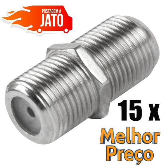 Emenda Conector Pacote 15 Peças Cabo Coaxial Rg59 Rg06